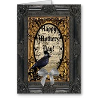 Romantic gothic crow mothers day