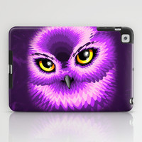 Pink Owl Eyes iPad Case by Bluedarkat Lem
