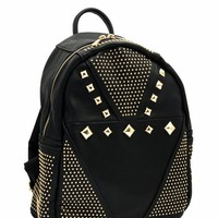 Metal Studded Mini Backpack