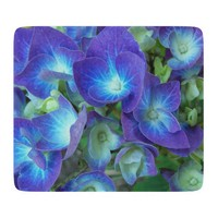 Blue Hydrangeas Glass Cutting Board