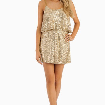 Sequin Tier Dress $60