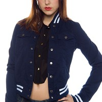 Play Ball Baseball Jacket - Navy
