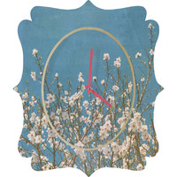 Lisa Argyropoulos Reaching For Spring Quatrefoil Clock
