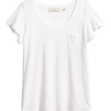 Slub Jersey Top - from H&M
