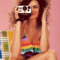 Wildfox Swim Tankini Top in 70s Rainbow - Boutique To You