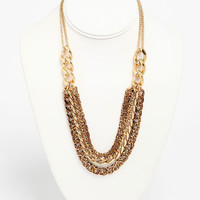 LAYERED LEOPARD CHAIN NECKLACE