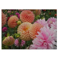 Dahlia Garden Glass Cutting Board