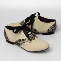 Iron Fist Lovelace Oxford Shoes - Beige - Punk.com