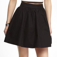 HIGH WAIST COTTON FULL SKIRT