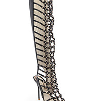 Fantasia Leather Gladiator Sandal Boots