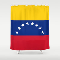 The national flag of the Bolivarian Republic of Venezuela -  Authentic version Shower Curtain by Bruce Stanfield