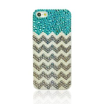 Beach & Wave Rhinestone Handmade Case For iPhone 4/4s