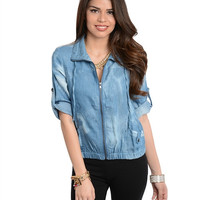 Anna Denim Jacket Top