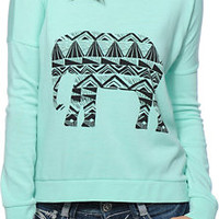 Billabong Safari Dreaming Mint Crew Neck Sweatshirt