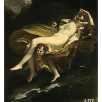 Psyche Transported to Heaven Giclee Print by Pierre-Paul Prud'hon at Art.com