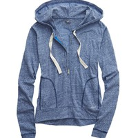 AERIE FULL ZIP HOODED SWEATSHIRT