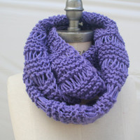 Hand knit Scarf Knitted Scarf Lavender Purple Knit Scarf Gift Guide - By PiYOYO