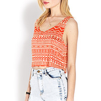 Worldly Flowy Crop Top