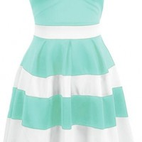 The Mint Striped Dress - 29 N Under