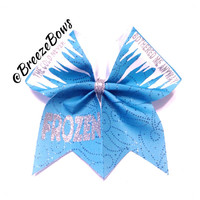 Cheer Bow- Frozen Inspired Glitter Scroll