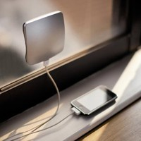 Solar Window Charger for iPhone 5 Galaxy S4 S3 Note 2 (Silver)