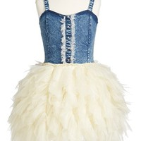 Ooh! La, La! Couture Denim Tulle Dress (Big Girls) | Nordstrom