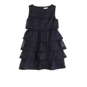 GIRLS' LAYERED ORGANDY DRESS