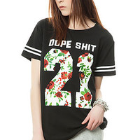 The Team Dope Tee in Black