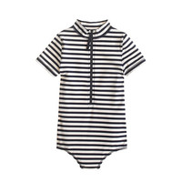 GIRLS' ZIP SWIMSUIT IN STRIPE