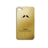 iMustache Phone Case Cute iPhone Case Funny iPod Case Gold Phone Cover iPhone 4 Case iPhone 4s Case iPhone 5s Case iPhone 5 Case iPod 4 Case