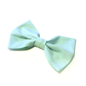 Big Mint Hair Bow by All Things in Color