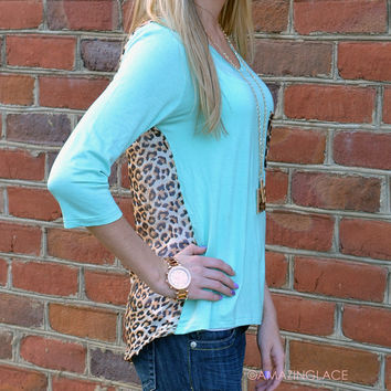 Kingston Mint Leopard Back Top