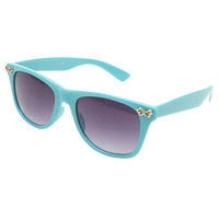 Infinite Love Detail Wayfarer Sunglasses | Wet Seal