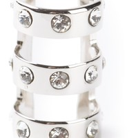 MARIA FRANCESCA PEPE embellished triple ring
