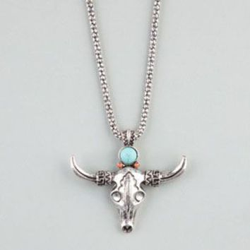 FULL TILT Southwest Bull Pendant Necklace