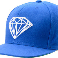 Diamond Supply Co Brilliant Royal Blue Snapback Hat