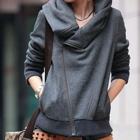 SLIM LONG-SLEEVED SWEATER COAT