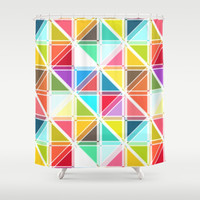 kaleidoscope pop Shower Curtain by musings