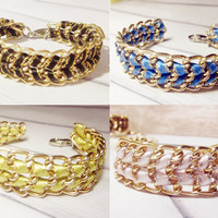 Friendship woven gold chain bracelet by Lynnlen