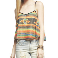 Sarape Print Swing Cami | Wet Seal