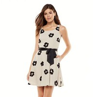 LC Lauren Conrad Floral Fit & Flare Dress