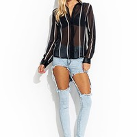 Hole Lotta Leg Distressed Jeans - GoJane.com
