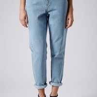 MOTO BABY BLUE HIGH WAISTED JEANS