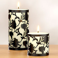 Blanc Noir Caged Candle, Set of 2 | Candles & Home Fragrance| Home Decor | World Market
