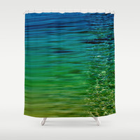 TREBLE SEA Shower Curtain by Catspaws