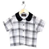 Motel Vintage Andy Blouse Full Check 0003 ONE SIZE