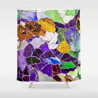MOSAIC Shower Curtain by Catspaws