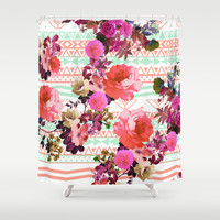 Flower in the Tribe Shower Curtain by Girly Trend