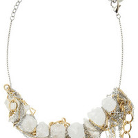 Gemma Redux Gold and silver-plated quartz necklace – 50% at THE OUTNET.COM