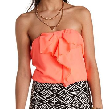 CROPPED BOW-FRONT TUBE TOP